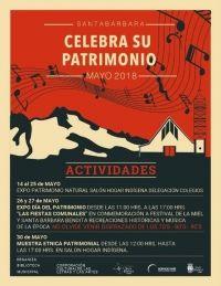 PANORAMA CULTURAL DE ACTIVIDADES DÍA DEL PATRIMONIO, EN SANTA BÁRBARA
