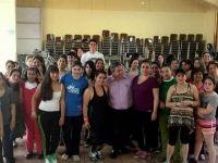 Con éxito el municipio, realiza talleres de aeróbica y baile entretenido