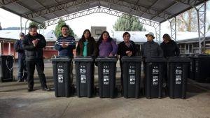 Contenedores de basura continúan siendo entregados por el Municipio de Santa Bárbara